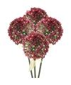4x roze paarse sierui kunstbloemen 70 cm