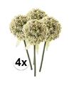 4x witte sierui kunstbloemen 70 cm