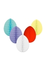 5 decoratie paaseieren pakket gekleurd 20 cm
