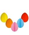 5 decoratie paaseieren pakket vrolijke kleuren 10 cm