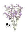 5 x paarse kroonkruid kunstbloemen tak 68 cm
