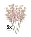 5 x roze kroonkruid kunstbloemen tak 68 cm