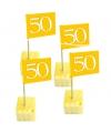 50 jaar cocktailprikkers goud