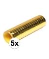 5x goudkleurige rollen serpentine
