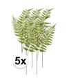 5x groene boomvaren kunstbloemen tak 85 cm