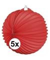 5x lampionnen rood 22 cm