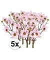 5x licht roze margriet kunstbloemen tak 44 cm