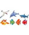 5x opblaasbare maritiem decoratie zeedieren type 1