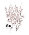 5x roze appelbloesem kunstbloemen tak 84 cm