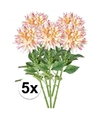 5x roze kunst dahlia tak 70 cm