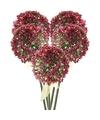 5x roze paarse sierui kunstbloemen 70 cm