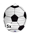 5x voetbal lampionnen 22 cm