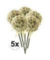 5x witte sierui kunstbloemen 70 cm