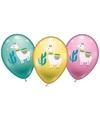 6 lama alpaca ballonnen 28 cm