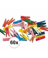 60x miniknijpertjes gekleurd