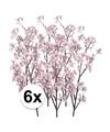 6x appelbloesem roze kunstbloemen 104 cm