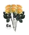 6x gele rozen simone kunstbloemen 45 cm