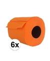 6x oranje toiletpapier