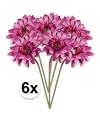 6x roze gerbera kunstbloemen 47 cm