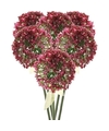 6x roze paarse sierui kunstbloemen 70 cm