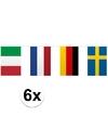 6x vlaggenlijn europa 10 meter