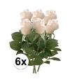 6x witte roos kunstbloemen 35 cm