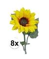 8 kunst zonnebloemen 81 cm