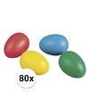80 gekleurde plastic eieren