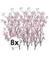 8x appelbloesem roze kunstbloemen 104 cm