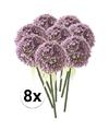 8x lila sierui kunstbloemen 70 cm