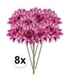 8x roze gerbera kunstbloemen 47 cm