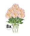8x roze kunst dahlia tak 70 cm
