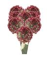 8x roze paarse sierui kunstbloemen 70 cm