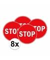 8x stopbord stickers 15 cm
