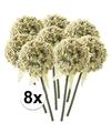8x witte sierui kunstbloemen 70 cm