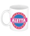Aletta naam koffie mok beker 300 ml