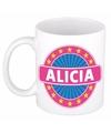 Alicia naam koffie mok beker 300 ml