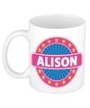 Alison naam koffie mok beker 300 ml
