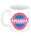 Amanda naam koffie mok beker 300 ml
