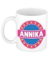Annika naam koffie mok beker 300 ml