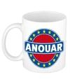 Anouar naam koffie mok beker 300 ml
