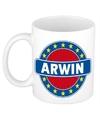 Arwin naam koffie mok beker 300 ml