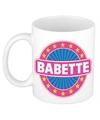 Babette naam koffie mok beker 300 ml