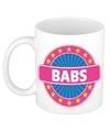 Babs naam koffie mok beker 300 ml