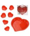 Bakvormpjes hart 7 stuks