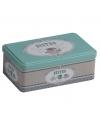 Bewaarblik RVS bistro mint groen 18 cm