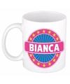 Bianca naam koffie mok beker 300 ml