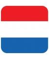 Glas viltjes met Nederlandse vlag 15 st