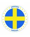 Viltjes met Zweden vlag opdruk