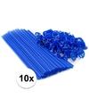Blauwe ballonstaafjes 10 stuks